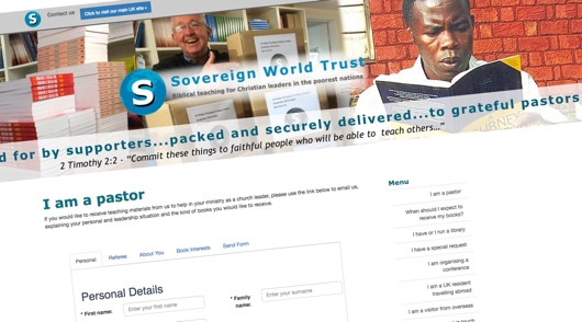 Sovereign World Trust client page